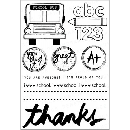 School Days Stamp Set