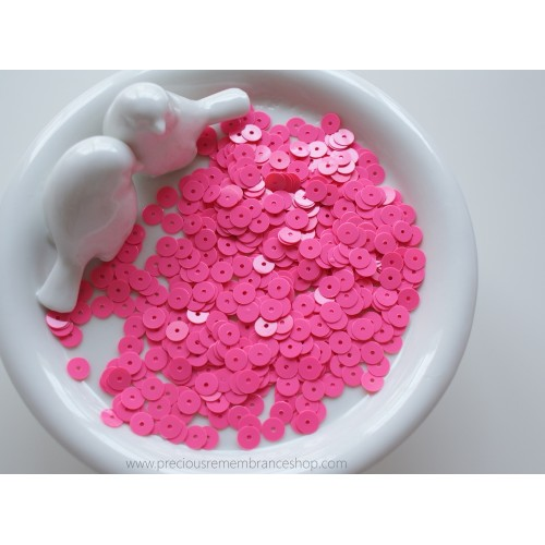 Fuchsia Pink Sequins